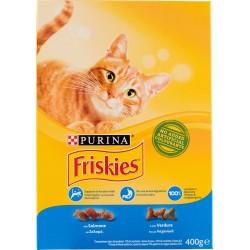 Frieskies Purina gatto crocchette adult con salmone e verdure scatola gr.400