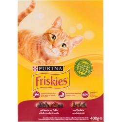 Friskies Purina gatto crocchette adult con manzo, pollo e verdure scatola gr.400