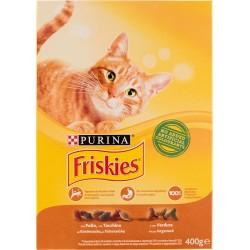 Friskies Purina gatto crocchette adult con pollo, tacchino e olive scatola gr.400