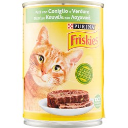 PURINA FRISKIES Gatto Umido Paté con Coniglio e Verdure Lattina 400 gR.