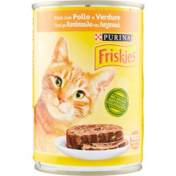 PURINA FRISKIES Gatto Umido Paté con Pollo e Verdure Lattina 400 gr.