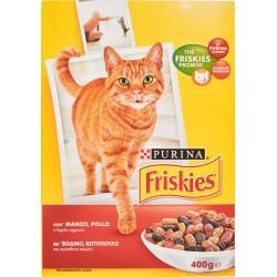 Purina Friskies croccantini per gatti al manzo, fegato e pollo - gr.400