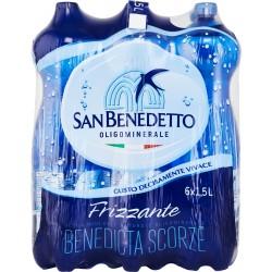 San Benedetto acqua frizzante lt.1,5x6