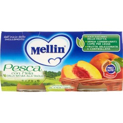Mellin omogenizzato alla pesca - gr.80 2pezzi