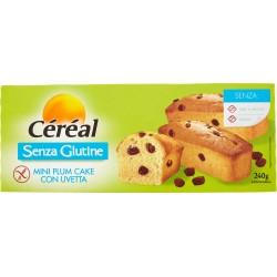 Céréal Senza Glutine Mini Plum Cake con Uvetta 6 merendine gr.240