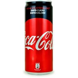 Cocacola zero lattina sleek cl.33