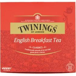 Twinings Classics English Breakfast Tea 100 gr. 50 filtri