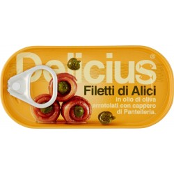 Delicius filetti di alici con capperi - gr.46