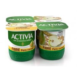 Danone activia fibre pera e cereali 4pezzi gr.500