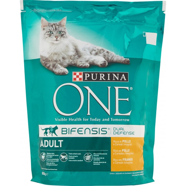 Purina one adult pollo riso - gr.800