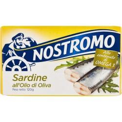 nostromo sardine all'olio d'oliva gr.120
