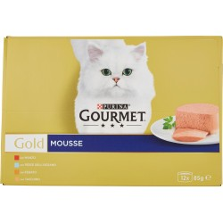 Gourmet gold mousse pesce, tacchino e manzo gr85 12buste