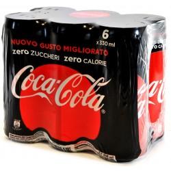 Coca-Cola Zero zuccheri zero calorie lattina 330ml x6