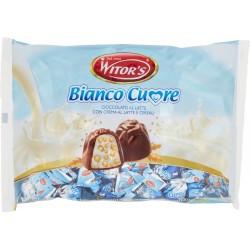 Witor's Bianco Cuore Cioccolato al Latte con Crema al Latte e Cereali 1 kg.