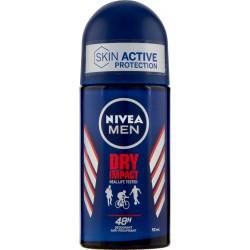 Nivea deodorante roll-on dry impact men - ml.50