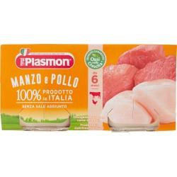 Plasmon omogenizzato di manzo e pollo - gr.80 x2