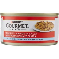 Gourmet lattina con salmone e trota - gr.195