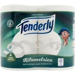 Tenderly carta igienica Kilometrica Maxi Rotoli 4 pz