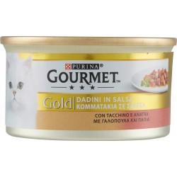 Gourmet gold con tacchino e anatra a dadini - gr.85