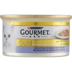 Gourmet gold con vitello e verdure a dadini - gr.85