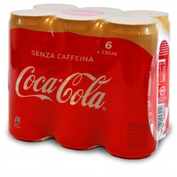 Cocacola senza caffeina in lattina sleek cl.33 x6
