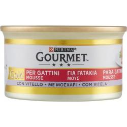 PURINA GOURMET Gold Gatto Mousse per gattini con Vitello lattina 85 gr.