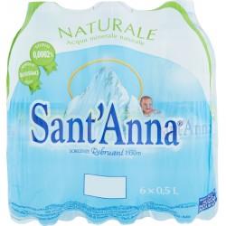 Sant'Anna acqua naturale - ml.500 cluster x6