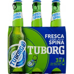 Tuborg birra cl.33 cluster x3