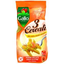 Gallo pasta 3 cereali penne rigate - gr.250
