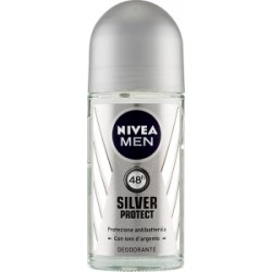 Nivea deodorante roll-on silver men - ml.50