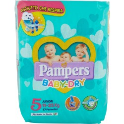 Pampers baby dry junior x17