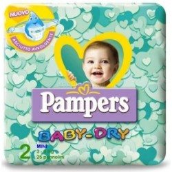 Pampers baby dry mini x 25
