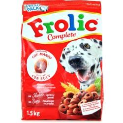 Frolic Complete con Manzo, Carote e Cereali 1,5 kg Azioni In