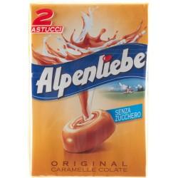 Alpenliebe Original caramelle colate senza zucchero astuccio gr.49x2