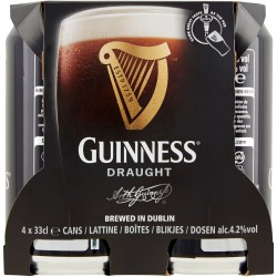 Guinness birra lattina cl.33 cluster x4