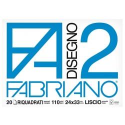 album fabriano riquadrato f2 cm24x33 fg.20 Liscio