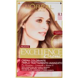 L'Oreal excellence n.8,1 biondo chiaro cenere