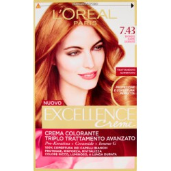 L'Oreal excellence n.7,43 biondo rame dorato