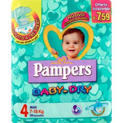 Pampers baby dry maxi x 19