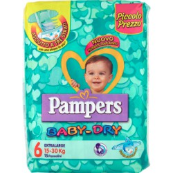 Pampers baby dry extra large x15