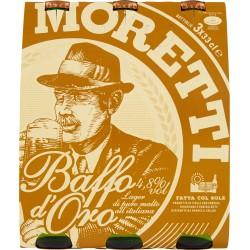 Moretti baffo oro birra cl.33 x 3 cluste