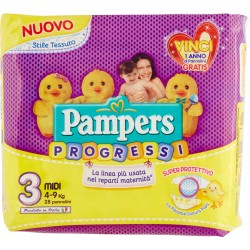 Pampers Progressi Midi x28