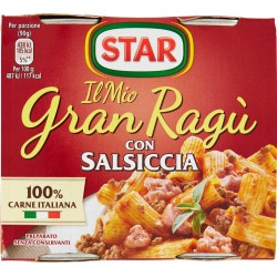 Gran ragu star salsiccia - gr.180 x2