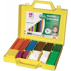 numeri in colore valigetta regoli pz.200