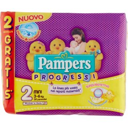 Pampers progressi mini 3-6 kg. x30