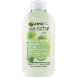 Garnier Fresh Uva - Latte detergente idratante per pelli normali o miste - 200 ml.