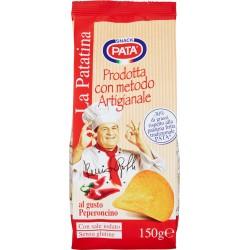 Pata La Patatina prodotta con metodo artigianale al gusto peperoncino 150 gr.