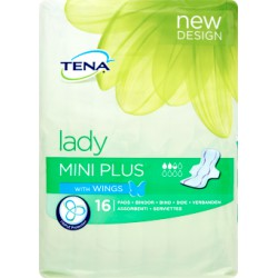 Tena lady mini plus wings x16