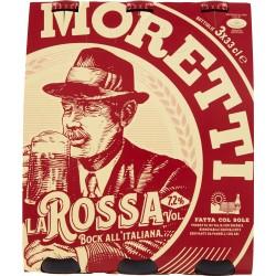 Moretti birra la rossa cl.33 cluster x3