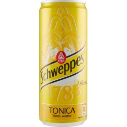 Schweppes tonica lattina sleek cl.33